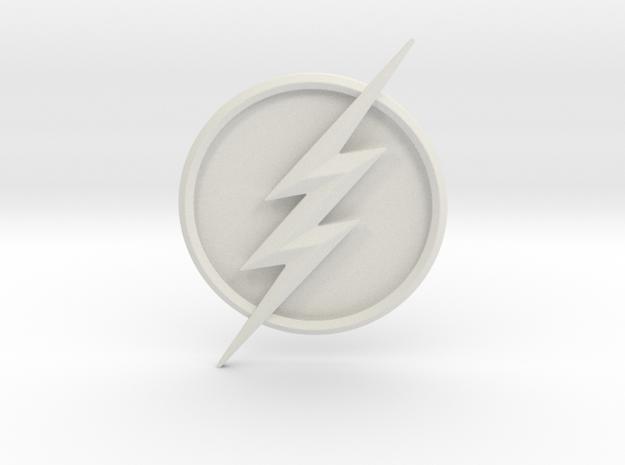 CW Flash Seasons 5 and 6 Emblem in White Natural Versatile Plastic