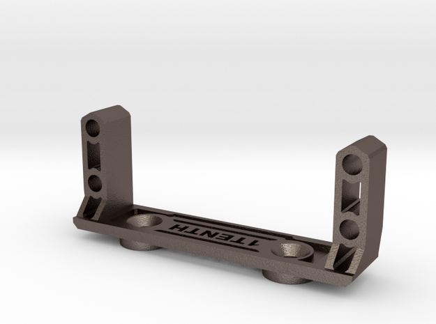 Metal Servo Mount V2 for Axial Capra  in Polished Bronzed-Silver Steel