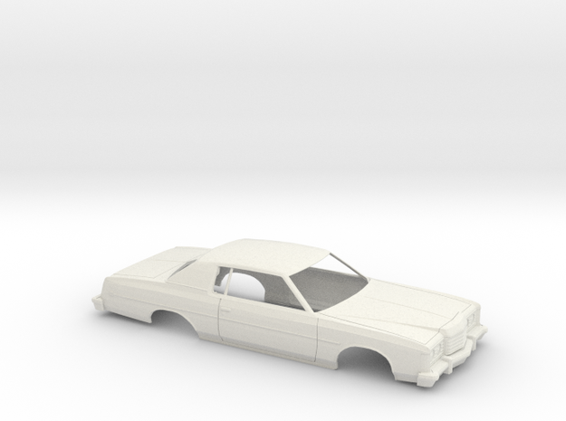 1/25 1974 Ford LTD Coupe Shell in White Natural Versatile Plastic