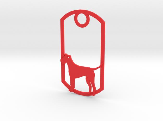 Irish Terrier dog tag in Red Processed Versatile Plastic