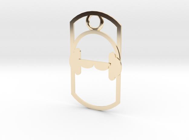 Headphones dog tag 3d printed