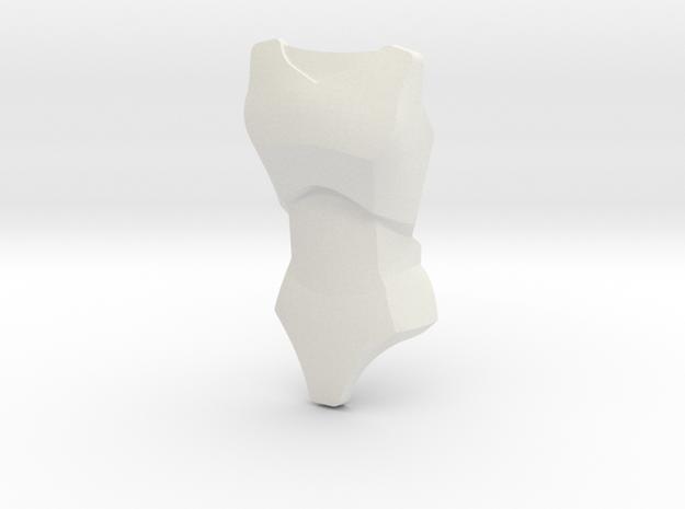 Large Figure Female Torso 26481 | CCBS in White Natural Versatile Plastic