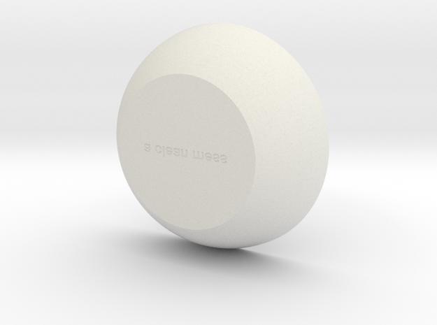 Lina in White Natural Versatile Plastic