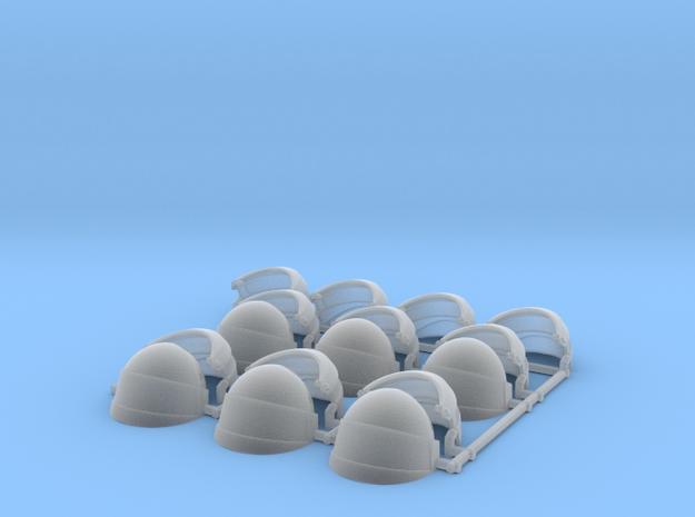 1/12 Scale reptilian Shock trooper Helmets x6 Fine in Smooth Fine Detail Plastic
