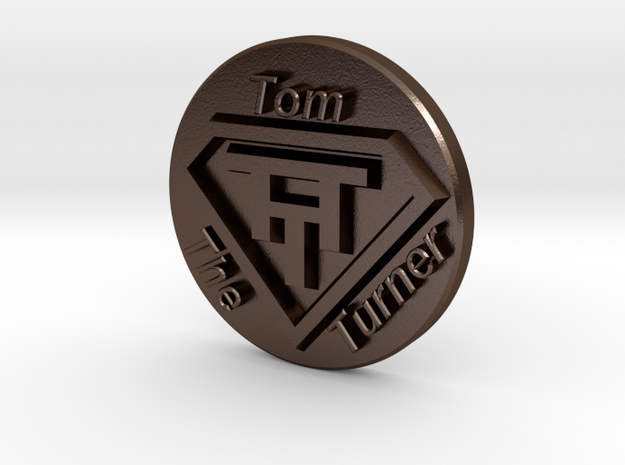 V3 Stamp TTT in Polished Bronze Steel