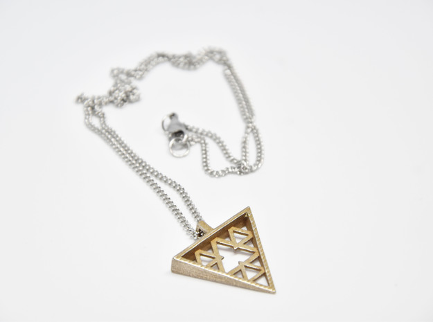 Thilykós pendant  in Polished Bronzed-Silver Steel