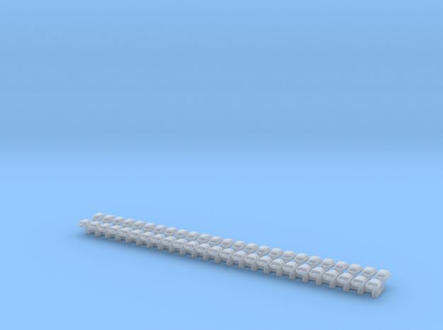 Railpotjes 50 stuks (1:87) in Smooth Fine Detail Plastic