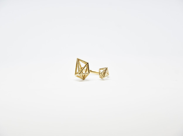 Double Tangle Ring in Natural Bronze: Medium