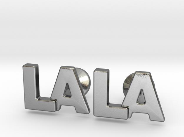 Monogram Cufflinks LA in Polished Silver