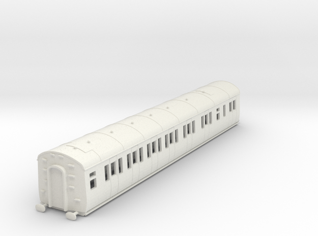 o-100-gwr-e128-lh-brake-comp-coach in White Natural Versatile Plastic
