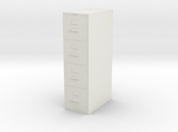 1:24 File Cabinet in White Natural Versatile Plastic