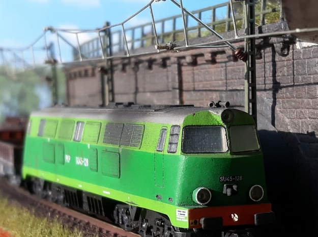 1:160 SU45 Body from 70 - GREEN in Smooth Fine Detail Plastic