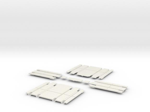 90 deg 2 track  crossing 1 track  atlas cover in White Natural Versatile Plastic