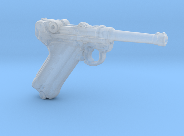 1/18 Scale Luger  in Smooth Fine Detail Plastic