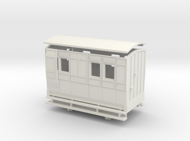 OO9 4w brake coach arc roof in White Natural Versatile Plastic