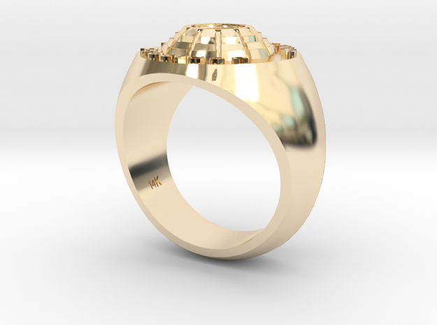 Man's Ring 14k Gold Tri County Trap in 14K Yellow Gold