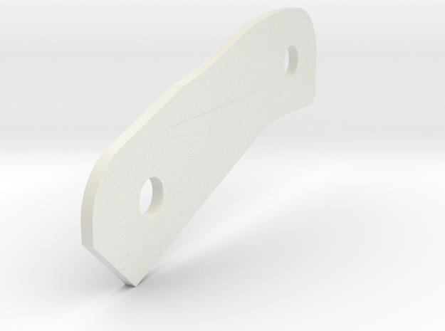 P-Hard B 1mm Spacer in White Natural Versatile Plastic