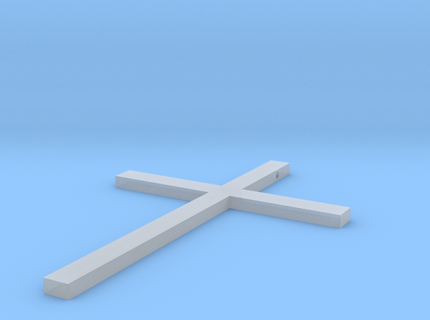 Cross Necklace in Smooth Fine Detail Plastic