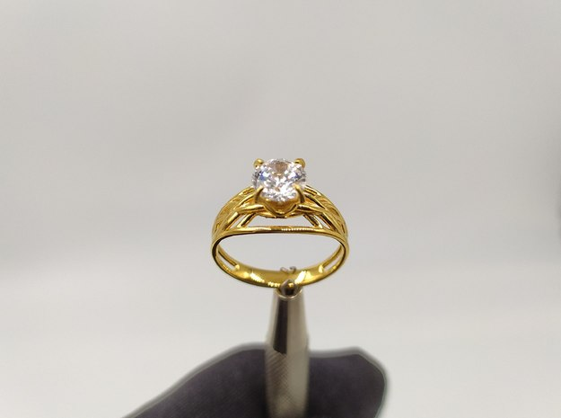Violet - Wedding ring in 14K Yellow Gold