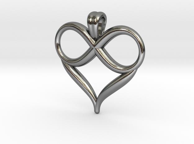 Infinite love [pendant] in Polished Silver