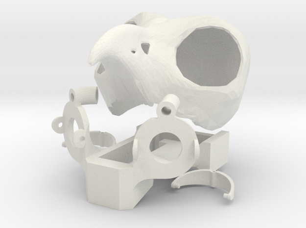OWL HEAD COMBINED in White Natural Versatile Plastic