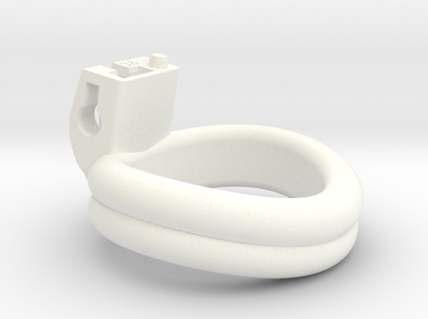 Cherry Keeper Ring - 38mm Double in White Processed Versatile Plastic