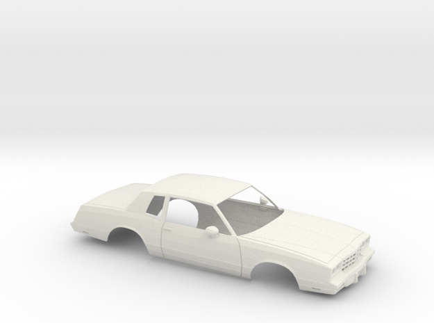 1/18 1983 Chevrolet Monte Carlo Shell in White Natural Versatile Plastic