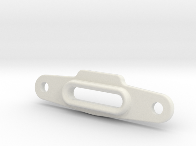 Axial Capra Front Winch Mount: Fair Lead v2 in White Natural Versatile Plastic