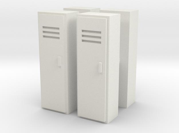 Locker (x4) 1/76 in White Natural Versatile Plastic
