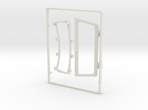 rtfm02-02 G.T. Spoiler Shell Parts in White Natural Versatile Plastic