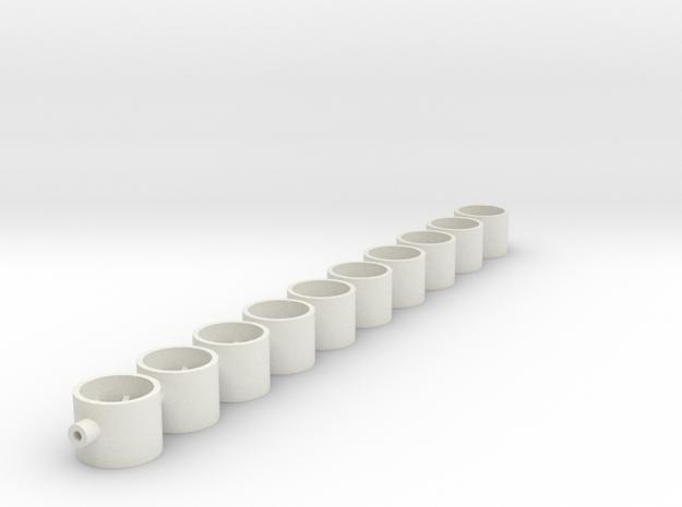 9x7x2_00 in White Natural Versatile Plastic