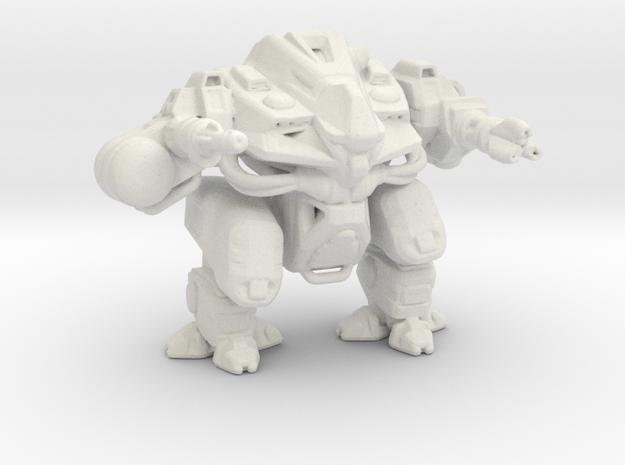 Hammer Mech 55mm miniature games rpg robot in White Natural Versatile Plastic
