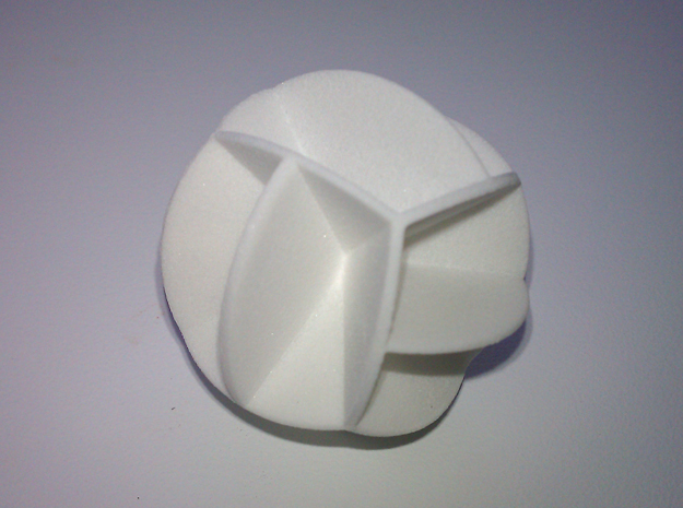 DRAW geo - sphere 12 cut outs in White Natural Versatile Plastic