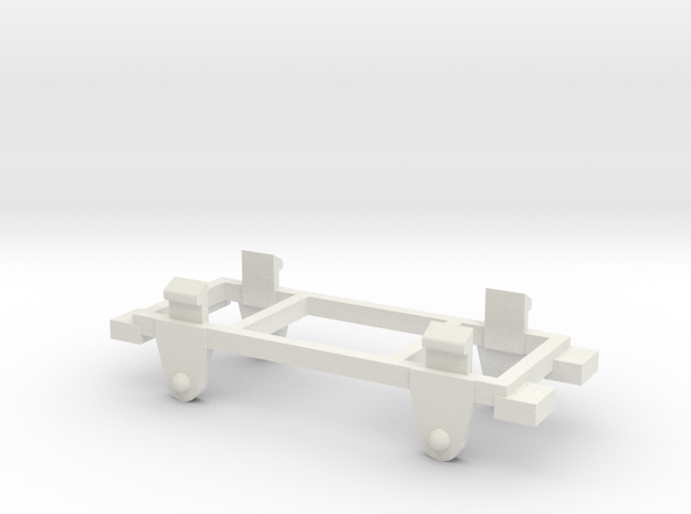 009 Free-Wheeler Chassis  in White Natural Versatile Plastic