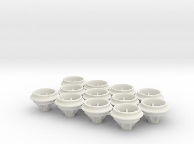 O-Ring_Felgen_9x238mm in White Natural Versatile Plastic