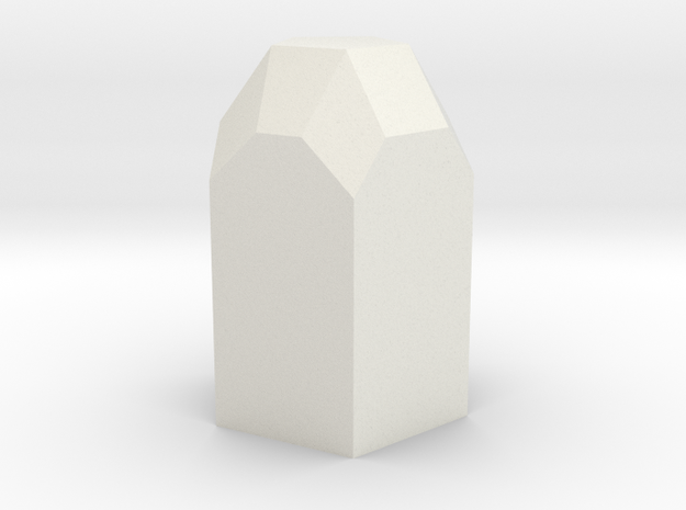 Pentagonal 2 in White Natural Versatile Plastic