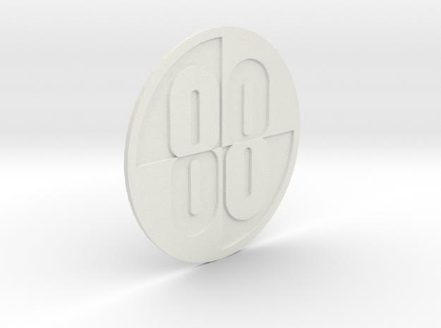 Buckaroo Banzai 88 Emblem in White Natural Versatile Plastic