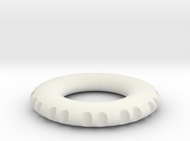 double edge rodin coil frame  40 x 40 x 6 mm  in White Natural Versatile Plastic