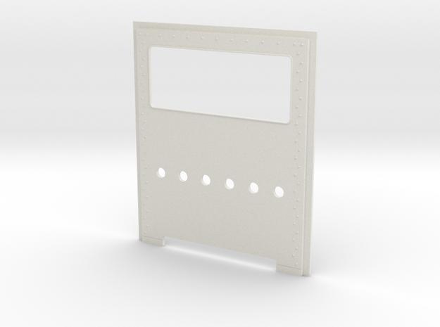 King Hauler Daycab Panel,  6 Lights Lower Cab in White Natural Versatile Plastic