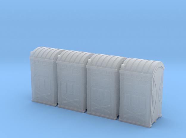 HO 1_87 Portable Toilet - Portaloo x 4 in Smooth Fine Detail Plastic