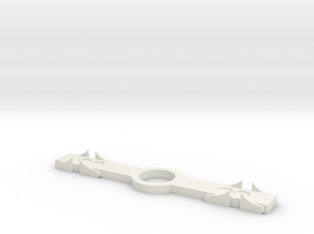 SR&RL Archbar spring-plank-45mm 1:20 in White Natural Versatile Plastic