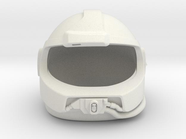 Airwolf Supercopter 3D Helmet 1/6 scale no visor in White Natural Versatile Plastic