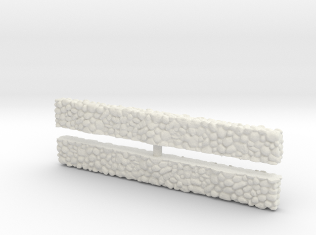 Stone Wall (x2) 1/120 in White Natural Versatile Plastic