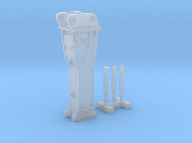 1:64 Hammer for 20Ton excavators in Smooth Fine Detail Plastic