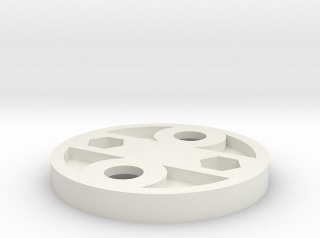 Garmin Varia mount for Topeak racks (version 2) in White Natural Versatile Plastic