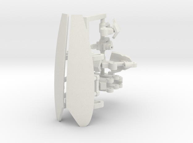 plastic upragde for Ghost X9 V2 in White Natural Versatile Plastic