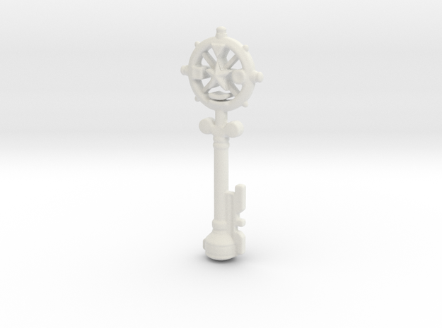 Auric Key in White Natural Versatile Plastic