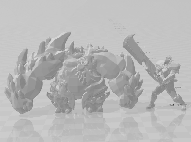 Rock Tyrant DnD miniature fantasy games and rpg in Gray PA12