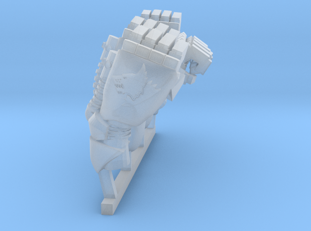 left outer space big dog power fist in Smoothest Fine Detail Plastic