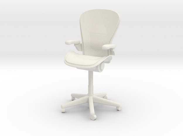 Miniature 1:24 Aeron Chair in White Natural Versatile Plastic